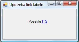 C# programski jezik - link label